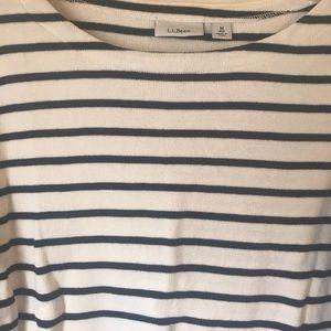 Medium LL Bean boatneck 3/4 length sleeved shirt.